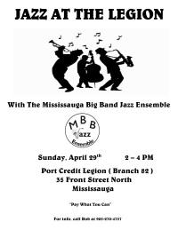 Jazz at the Legion - April 29