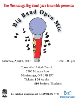 Big Band Open Mic 2017